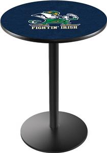 Holland Notre Dame Leprechaun Round Base Pub Table