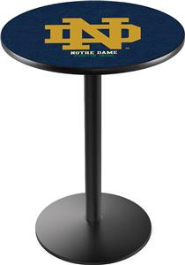 Holland Notre Dame ND Round Base Pub Table