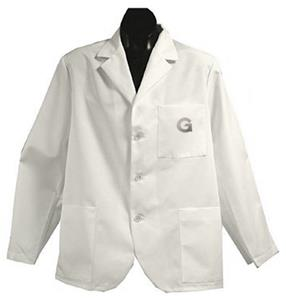 Georgetown University White Short Labcoats
