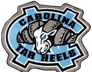 Fan Mats UNC Chapel Hill Mascot Mat