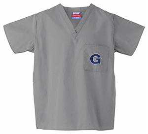 Georgetown University Gray Classic Scrub Tops