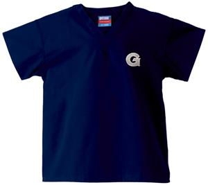 Georgetown University Kid's Navy Scrub Tops