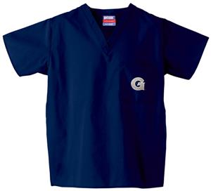 Georgetown University Navy Classic Scrub Tops
