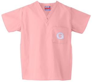 Georgetown University Pink Classic Scrub Tops