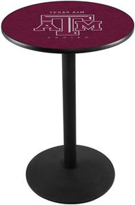 Holland Texas A&M Round Base Pub Table