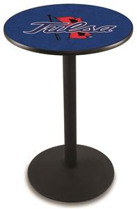Holland University of Tulsa Round Base Pub Table
