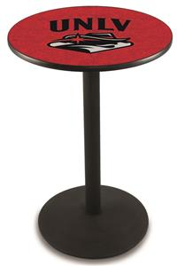 Univ of Nevada Las Vegas Round Base Pub Table