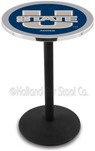 Holland Utah State University Round Base Pub Table
