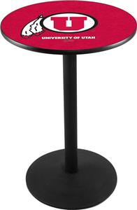 Holland University of Utah Round Base Pub Table