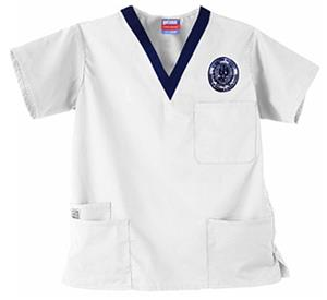 Georgetown University White 3-Pocket Scrub Tops