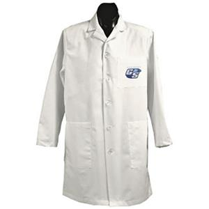 Georgia Southern Univ White Long Labcoats