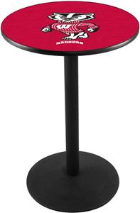 Univ of Wisconsin Badger Round Base Pub Table