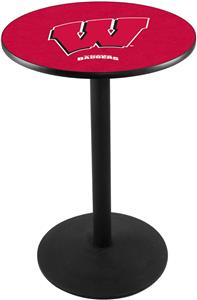 "Univ of Wisconsin ""W"" Round Base Pub Table"