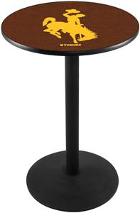 University of Wyoming Round Base Pub Table