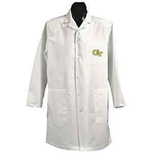 Georgia Tech White Long Labcoats