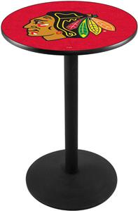 Chicago Blackhawks Red NHL Round Base Pub Table