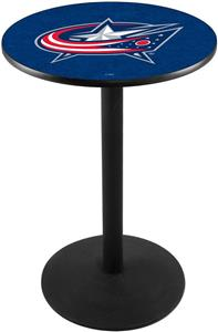 Columbus Blue Jackets NHL Round Base Pub Table