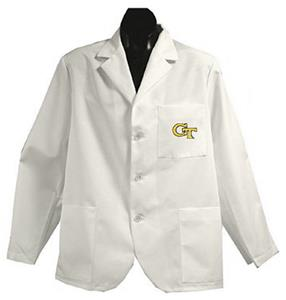 Georgia Tech White Short Labcoats