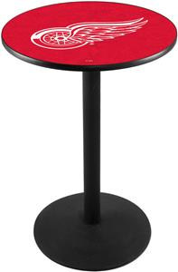 Detroit Red Wings NHL Round Base Pub Table