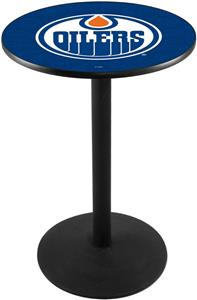 Holland Edmonton Oilers NHL Round Base Pub Table