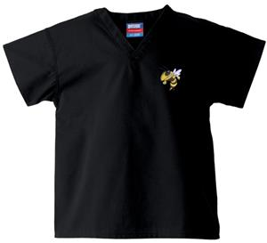 Georgia Tech Yellow Jackets Kid's Black Scrub Tops