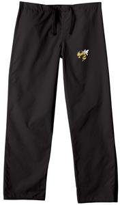Georgia Tech Yellow Jackets Black Scrub Pants