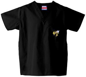 Georgia Tech Yellow Jackets Black Scrub Tops