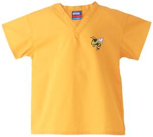 Georgia Tech Yellow Jackets Kid's Gold Scrub Tops