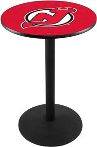New Jersey Devils NHL Round Base Pub Table