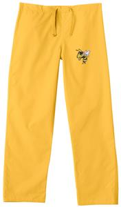 Georgia Tech Yellow Jackets Gold Scrub Pants