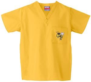 Georgia Tech Yellow Jackets Gold Scrub Tops