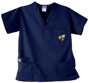 Georgia Tech Yellow Jackets Navy 3-Pkt Scrub Tops