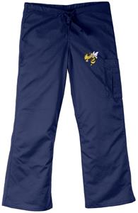 Georgia Tech Yellow Jackets Navy Cargo Scrub Pants