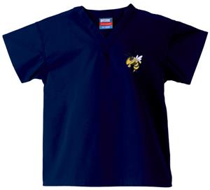 Georgia Tech Yellow Jackets Kid&#39;s Navy Scrub Tops