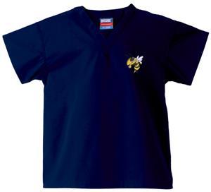 Georgia Tech Yellow Jackets Kid's Navy Scrub Tops