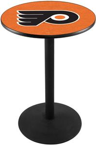 Philadelphia Flyer Orange NHL Round Base Pub Table
