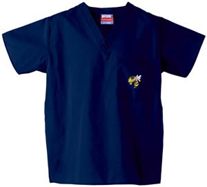 Georgia Tech Yellow Jackets Navy Scrub Tops