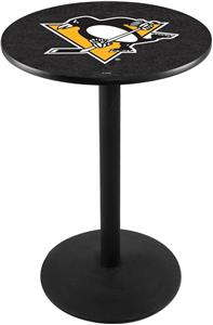 Pittsburgh Penguins NHL Round Base Pub Table