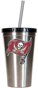 NFL Tampa Bay Buccaneers 16oz Tumbler with Straw