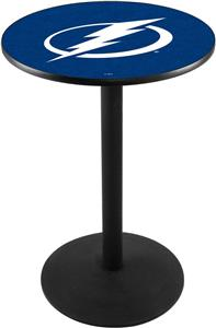 Tampa Bay Lightning NHL Round Base Pub Table