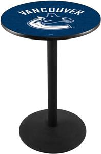 Vancouver Canucks NHL Round Base Pub Table