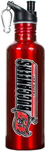 NFL Buccaneers Red Stainless Water Bottle
