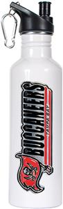 NFL Buccaneers White Stainless Water Bottle