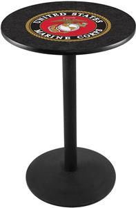 United States Marine Corps Round Base Pub Table