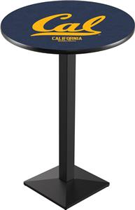 Univ of California Blk/Chrm Square Base Pub Table