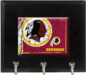 NFL Washington Redskins Wood Keyhook Rack