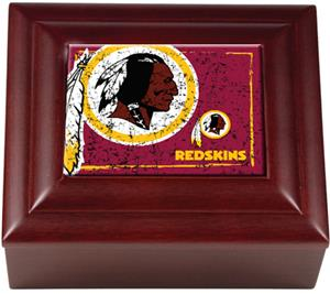 NFL Washington Redskins Mahogany Keepsake Box