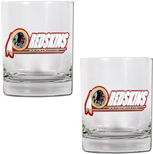 NFL Washington Redskins 2 piece Rocks Glass Set