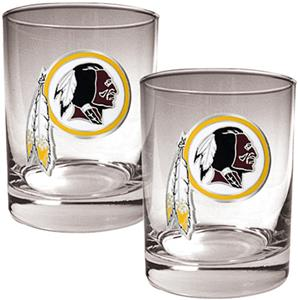 NFL Redskins 14oz 2 piece Rocks Glass Set