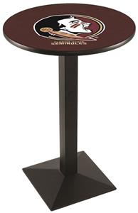 Florida State Head Square Base Pub Table